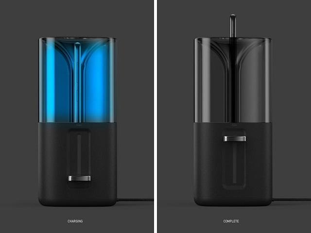 專為手機設計的「烤麵包機」!清潔/充電一次完成