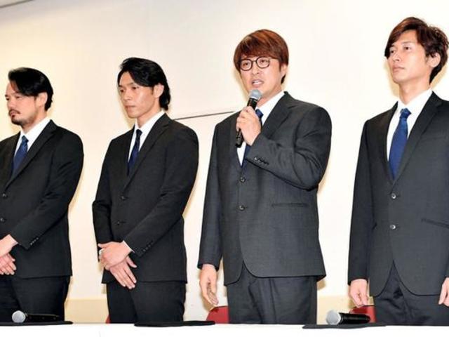 純烈組合四名成員舉行記者見面會對隊友引退道歉