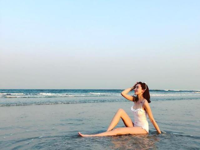 林志穎嬌妻陳若儀曬泳裝照 長腿纖腰美麗動人