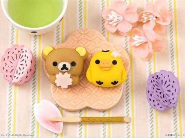 抱著櫻花的拉拉熊,黑糖蜂蜜與櫻花口味的可食吉祥物登場!