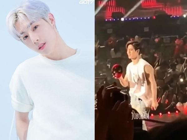 GOT7演唱會觀眾丟東西! Mark被砸臉「秒微笑」粉絲心疼了