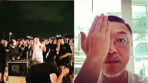 IG被灌爆沒在怕! 《屍速》金義聖找全劇組「單手遮眼」挺香港...中國網友全崩潰